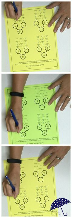 Kids need to practice using number bonds to get comfortable with the model. These two free worksheets require students to complete number bonds and then write addition and subtraction equations to match the number bonds.