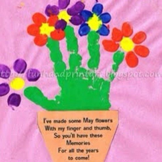 Preschool Handprint May Day Flowers- Make with the boys for their grandparents and our neighbors?