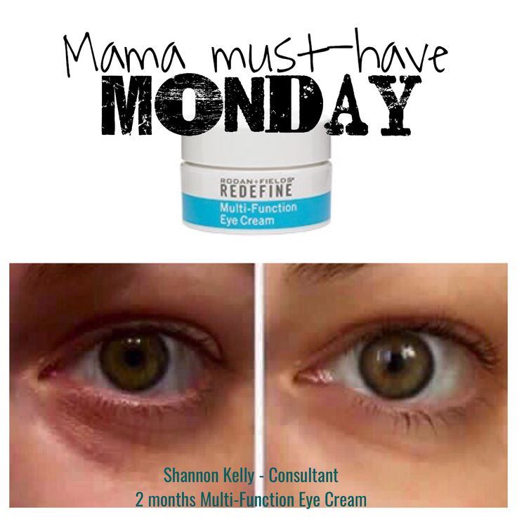 Monday morning blues? Help reduce puffiness and diminish dark under-eye circles with Redefine Multi-Function Eye Cream.  #rodan+fields www.egedeon.myrandf.com
