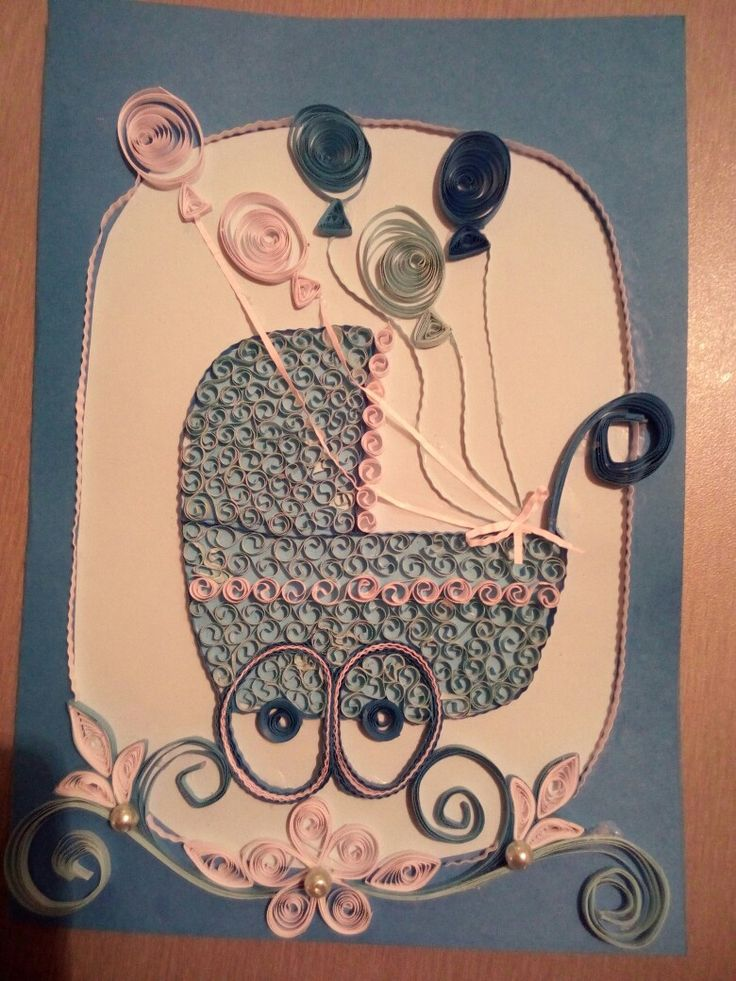 Quilling gratulace