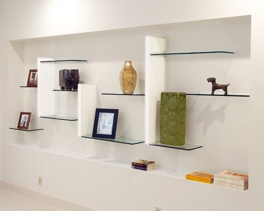 WALL UNITS – glass shelving   – Decorating walls – #decorating #Glass #shelving …  – most beautiful shelves