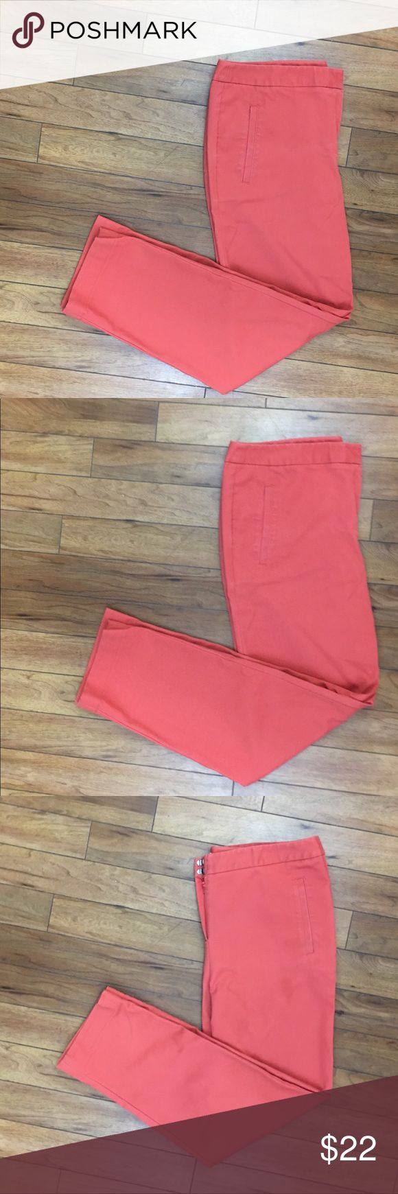 """Chico's salmon pants size 2 33.5"""" Details: Chico's salmon pants  Size: Chico's size 2 which is 33.5"""" waist according to Chico's size chart as listed!  Material: in photos  Condition: GUC Measurements are taken flat! Inseam: 28.5""""  Ankle: 7.5""""  ☑️ Bundle Discounts  ☑️Fast shipping  ☑️Posh Ambassador  ✨Shop with Confidence Chico's Pants Ankle & Cropped"""