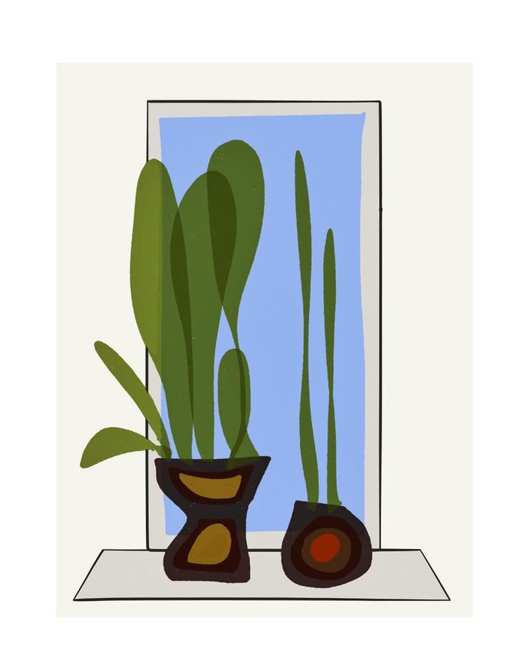Watching the #madness outside. #plants #revisited - #digital #drawing #illustration