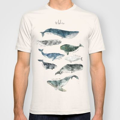 Buy Whales by Amy Hamilton as a high quality T-shirt. Worldwide shipping available at Society6.com. Just one of millions of products available.