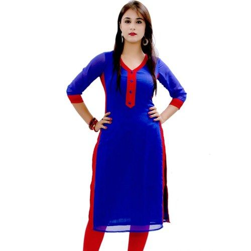 New Royal Blue Color Long Cotton Kurti_SF-505 Saiveera Fashion is Popular brand in Women Clothing in Surat. Saiveera Fashion is Produce many kind of Women's Clothes like Anarkali Salwar Suits, Straight Salwar Suits, Patiala Salwar Suits, Palazzos, Sarees, Leggings, Salwars, Kurtis, etc. For any Query Contact/Whatsapp on +91-8469103344.