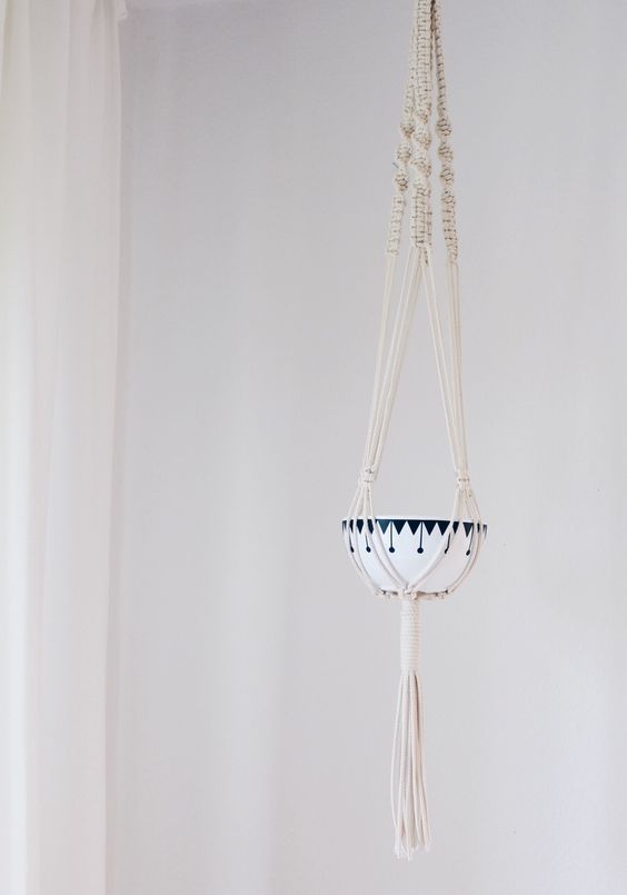 diy makramee blumenampel selber machen blumenampel pinterest blumen ampel makramee. Black Bedroom Furniture Sets. Home Design Ideas