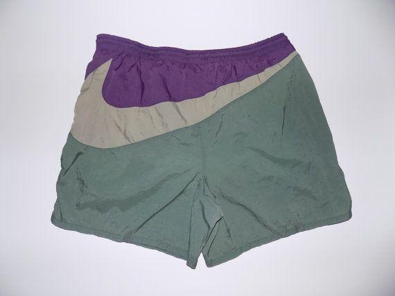 90s Nike Swim Shorts / Big Swoosh / Mens Vintage / White Tag Nike Swim Trunks / Nike Air / Fresh Prince