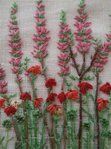 Kazuko Aoki: flower embroidery- I want to learn how to do this...