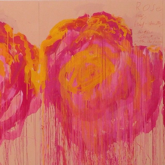 Cy Twombly #inspiration #roses #painter #fashioninspiration #bold