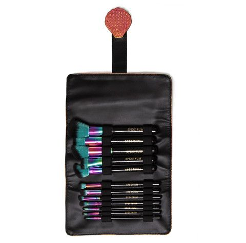12 piece siren brush set  roll  spectrum collections can