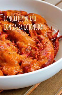 """Cangrejos de río con salsa """"Cojonuda"""""""