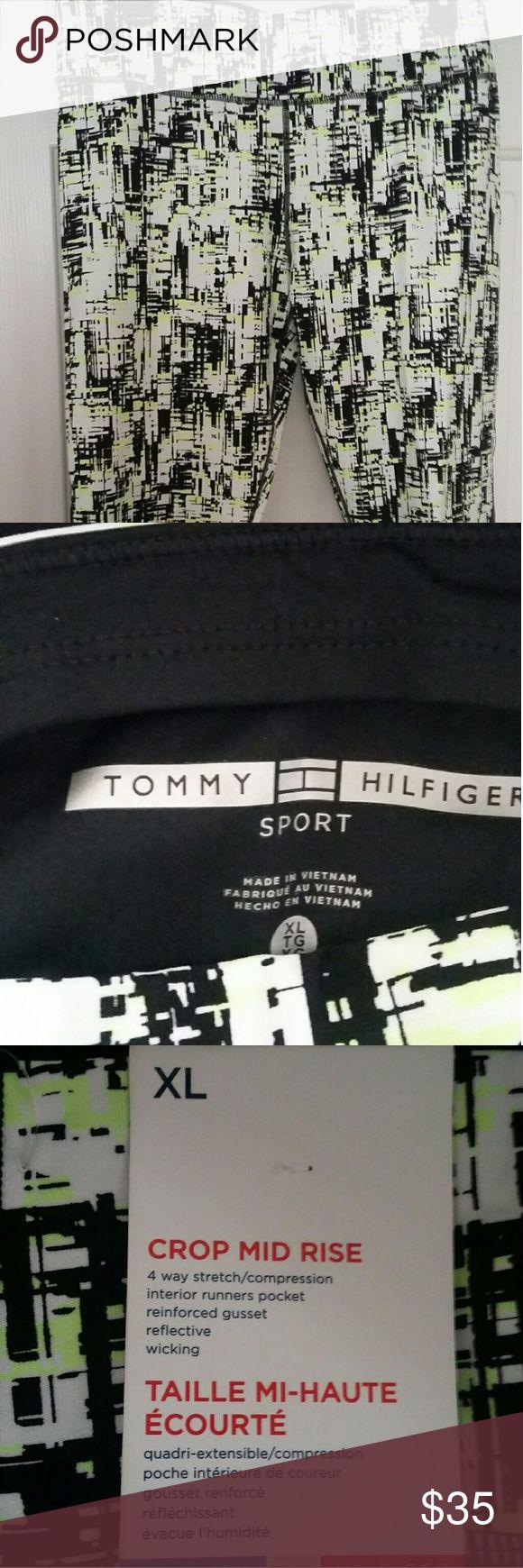 Tommy Hilfiger crop mid rise pants sport Nwt XL crop mid rise pants print Tommy Hilfiger Pants Leggings