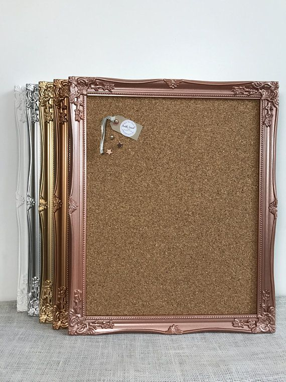 Framed Cork Board In White Framed Pin Board Push Pin Board Ornate