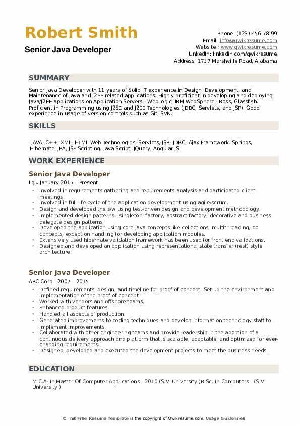 Java Developer Summary Resume Resume Examples Teacher Resume Examples Teacher Resume
