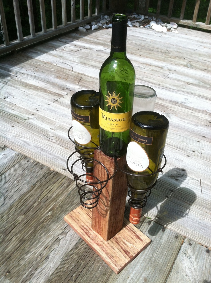 1000 images about bed springs on pinterest for Arts and crafts wine rack