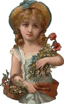 Scraps - Victorian Die Cut - Victorian Scrap - Tube Victorienne - Glansbilleder - Plaatjes: Girl - girl - fille