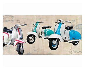 Stampa fine art su canvas con telaio in legno Vintage Glories - 100x50x4 cm