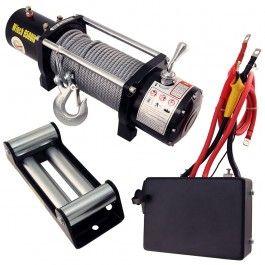 Este tipo de cabrestante eléctrico se conecta a la batería del vehículo en el que se instala. Tres modelos con distinta capacidad de arrastre.