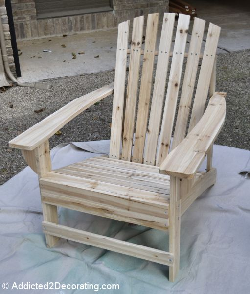 $36 assemble yourself Adirondack Chairs from Home Depot.  Cute patio on this blog, too.