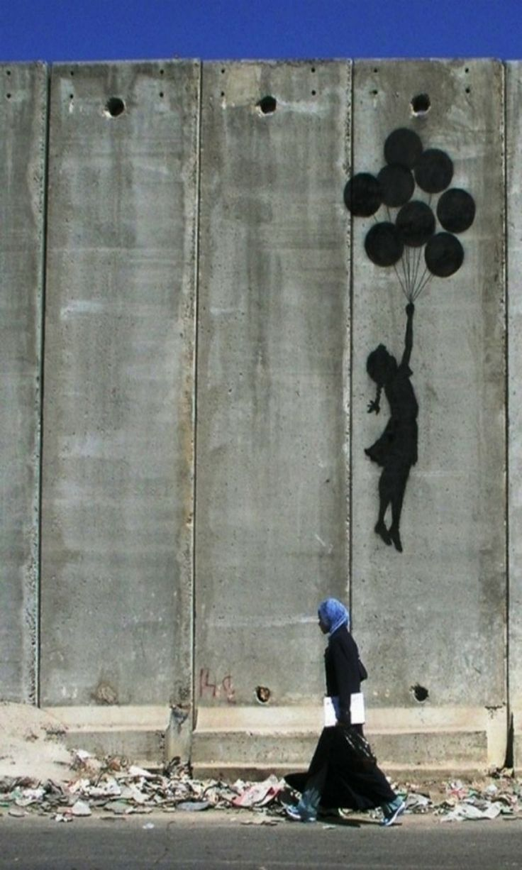 Banksy. World Graffiti Artist. His technique, career and work