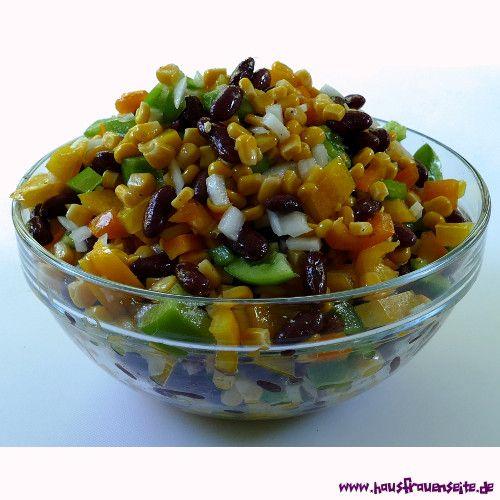 Mexikanischer Salat  ein schnelles Salatrezept für Mexikanischen Salat vegetarisch vegan laktosefrei glutenfrei