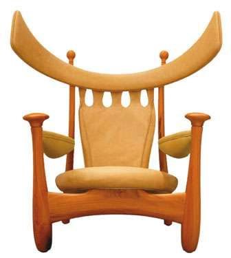 The Chifruda Armchair by 82-year-old designer Sergio Rodrigues was originally designed in 1962.