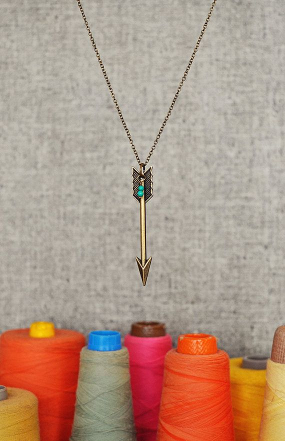 Arrow Necklace - Jocelyn. Freckled Nest - Etsy