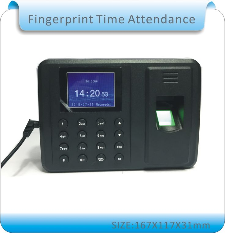 Livraison gratuite Biométrique D'empreintes Digitales Heure Enregistreur de Présence Des Employés Numérique Électronique/Anglais voix