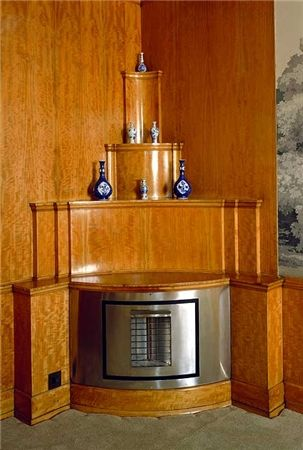 Art Deco Fireplace, Eltham Palace, Greenwich, London, England