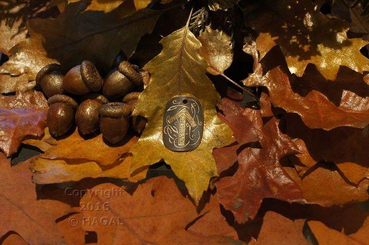 Tiwaz  Rune Amulet Pendant Handmade Brass Wicca Pagan Viking Druid