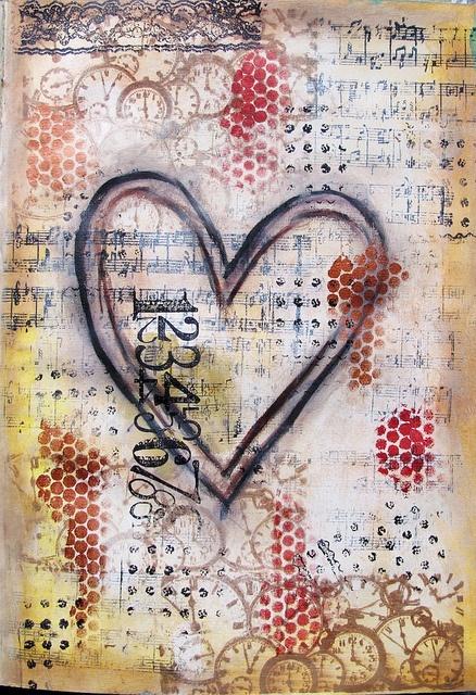 Diana Jane Images (art journal, mixed media, gorgeous background!)