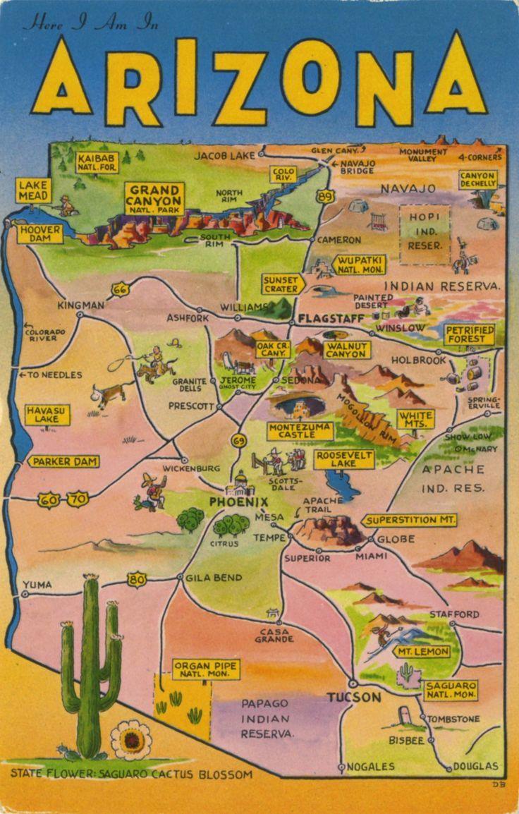 388 best travel arizona images on pinterest arizona, arizona Travel Map Of Arizona find this pin and more on travel arizona by moyermoyer travel map of arizona