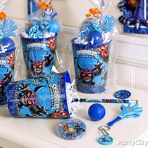 Keep the fun going even after the party is over! These Skylanders cups make great favor containers!