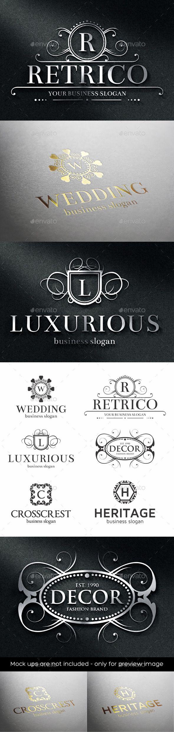 Luxurious Crest Logos Template #design Download: http://graphicriver.net/item/luxurious-crest-logos/12130679?ref=ksioks
