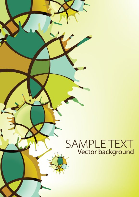 free vector Creativity dripping traces the background 01 vector