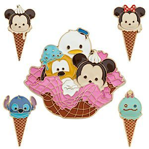 Mickey Mouse and Friends ''Tsum Tsum'' Limited Edition Pin Set | Disney Store You'll have 'em licked when you add some coolness to your collection with this limited edition set of five sweet ''Tsum Tsum'' ice cream-themed pins featuring cute scoops of your favorite characters.