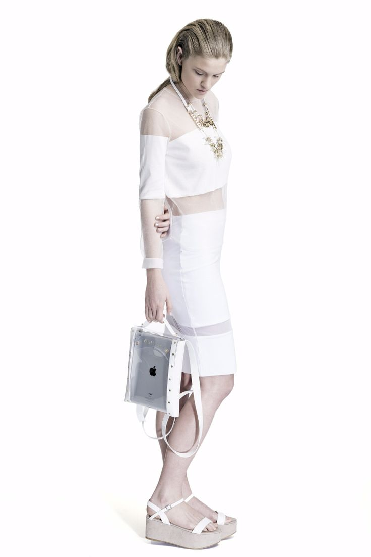 Balilla Ss14 pvc backpack and jewelleries