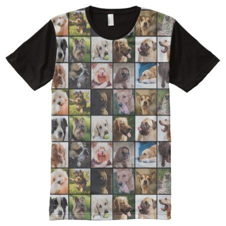 Cute & Funny Dogs Photo Collage t-shirt - click/tap to personalize and buy