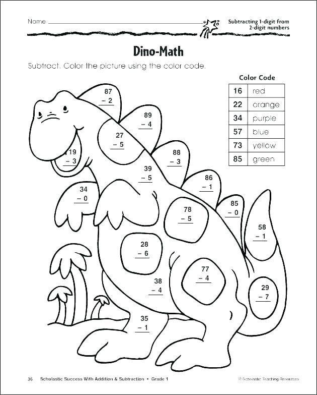 Subtraction Coloring Worksheets 2nd Grade Subtraction Coloring Worksheets 1st Grade Gotwebsites In 2020 Math Coloring Worksheets Math Subtraction Color Worksheets