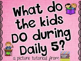 2nd Grade Stuff: What Do the Kids DO During Daily 5?---pretty awesome breakdown of Daily Five, I think I'm gunna try this and see how it goes!