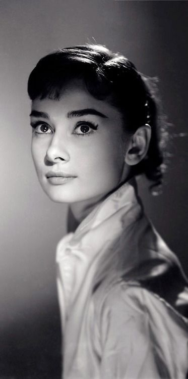 """Audrey Hepburn - Photograph by Jack Cardiff, 1956.    """"Audrey had a perfect face and her ballet training made her walk with sleek grace. She radiated elegance. It was a joy to work with her on War and Peace."""" -Jack Cardiff"""