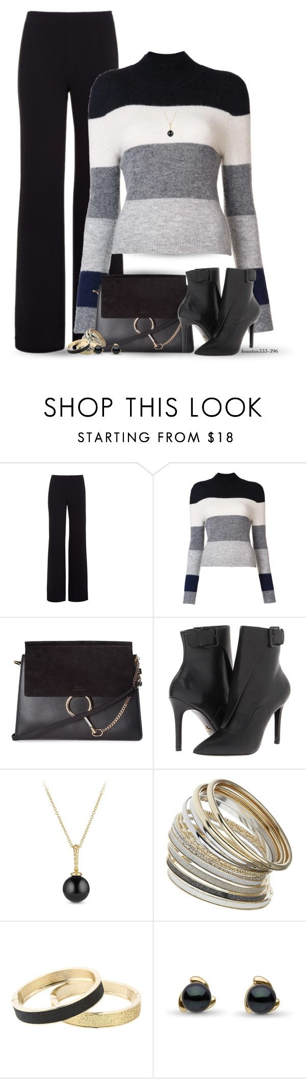 """""""Striped Sweater"""" by houston555-396 ❤ liked on Polyvore featuring Alexander Wang, Equipment, Chloé, Pour La Victoire, David Yurman, Miss Selfridge and Betsey Johnson"""