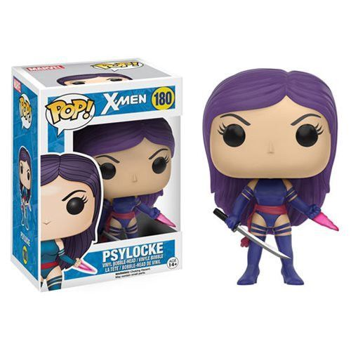 Pre-Order Coming in stock in Late November 2016 Your favorite mutant is now a Pop! Vinyl Figure! Based on the classic X-Men look, Psylocke features the famous Funko stylization. Measuring approximatel