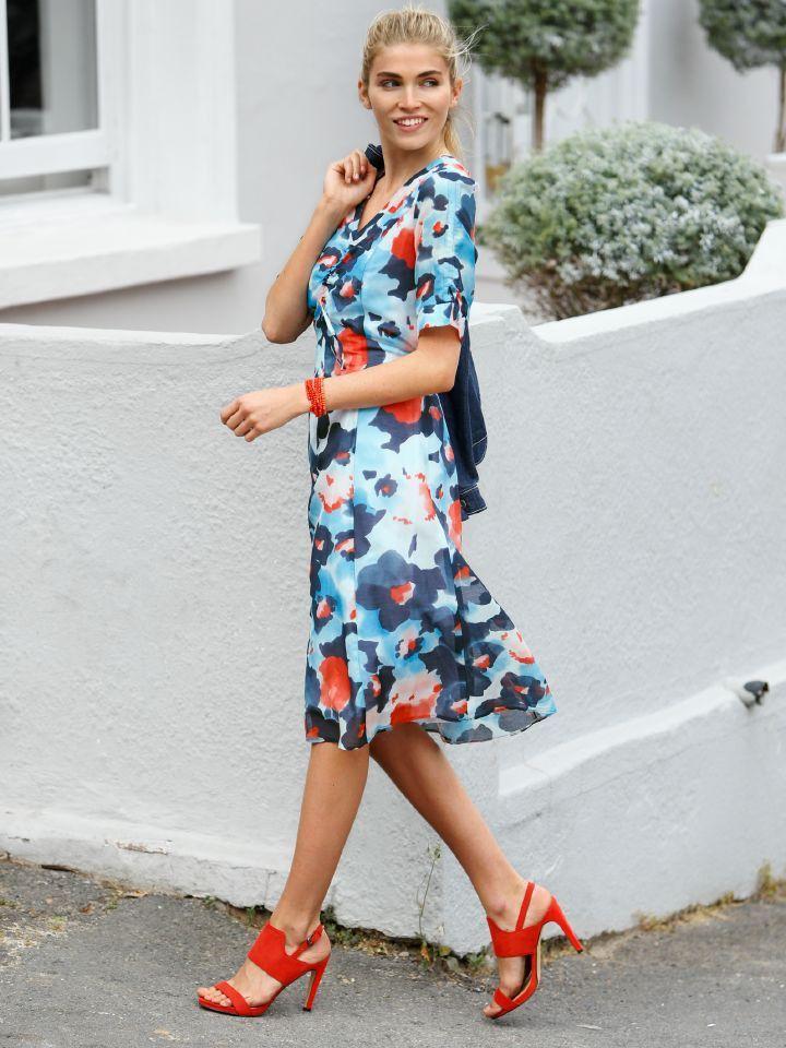Sommerkleid Blumendruck