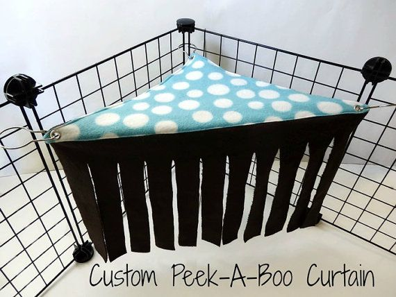 Create Your Own Peek-A-Boo Hideout Corner Curtain by SquigglyPigs