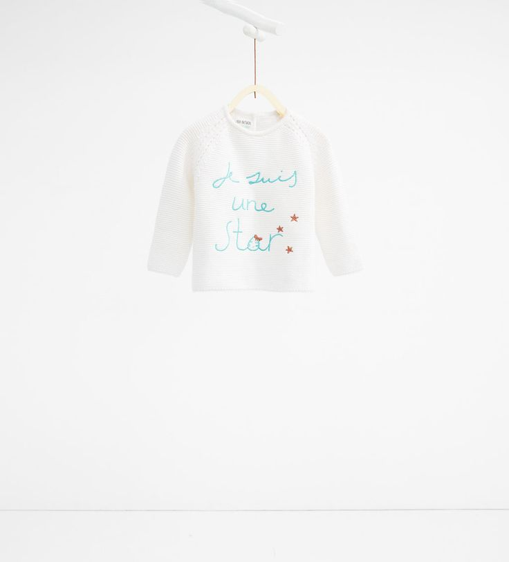 Embroidered text knit sweater-CARDIGANS AND SWEATERS-BABY GIRL-KIDS-SALE   ZARA United States