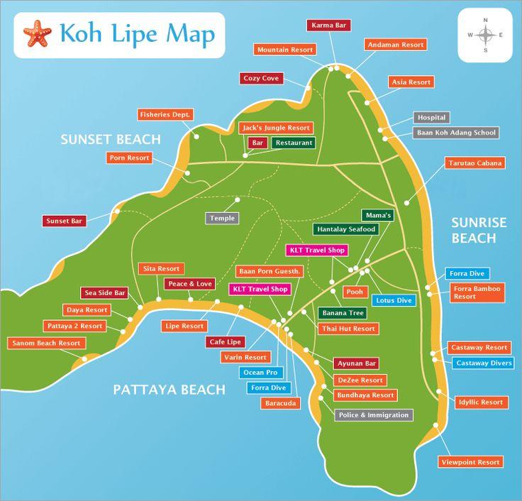 Map Of Koh Lipe