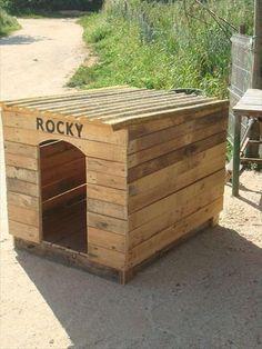 DIY Pallet Outdoor Dog House
