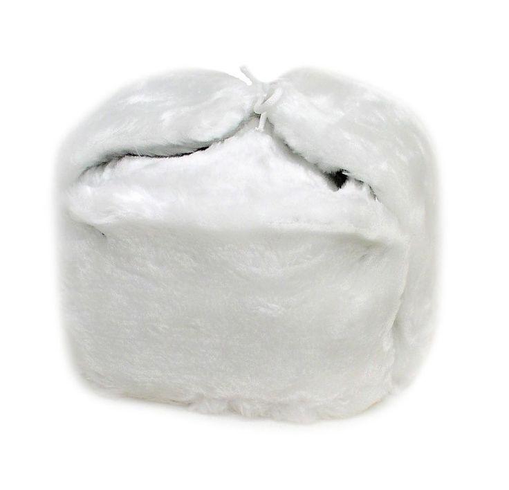 Ushanka Russian Winter Hat Size Xxl (Metric 64) White