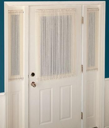 Decorating window covering for door : 17 Best ideas about Front Door Curtains on Pinterest | Sidelight ...